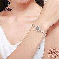 Authentic 100 925 Sterling Silver Luxury AAA Zircon Bracelet Tree Of Life Crystal Tennis Chain Bracelets