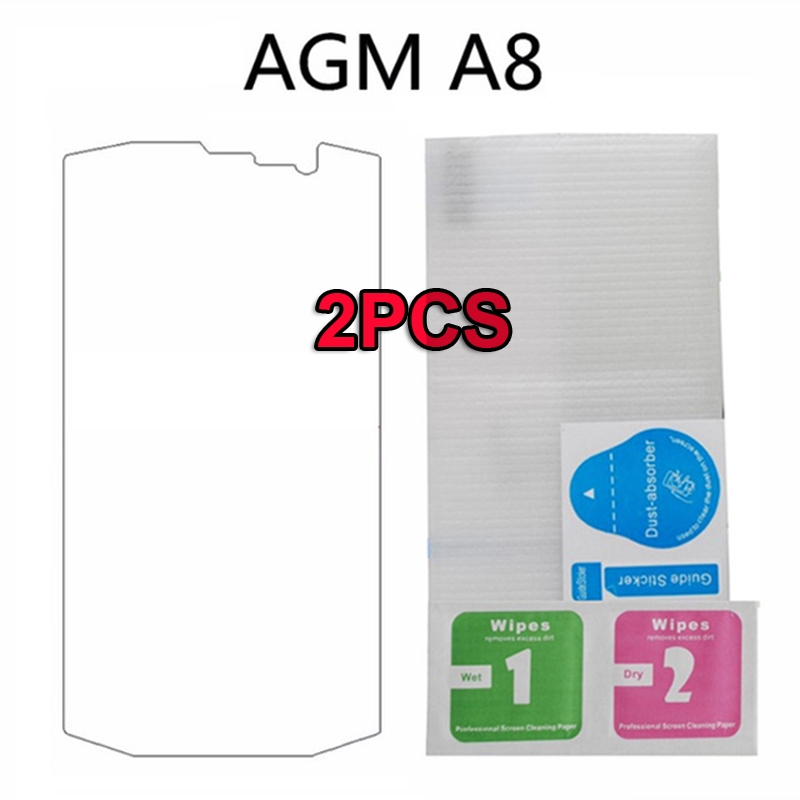 Galleria fotografica 2PCS Tempered Glass For AGM A8 Screen Protector Ultra-thin Anti knock Protective For AGM A8 ip68 Case Glass Explosion-proof Film