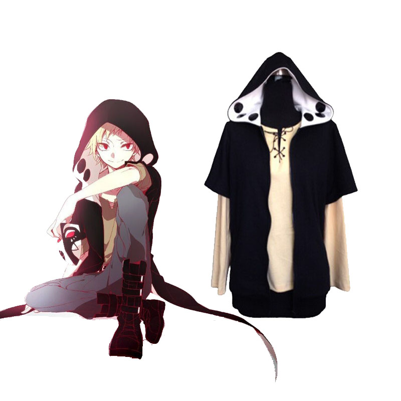 MekakuCity Actors,Kano Shuuya Hoodie Short-sleeved Jacket Coat Costume