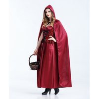 2019 Little Red Riding Hood Costume Queen Dress Halloween Cosplay Uniform Adult Cosplay Costume party