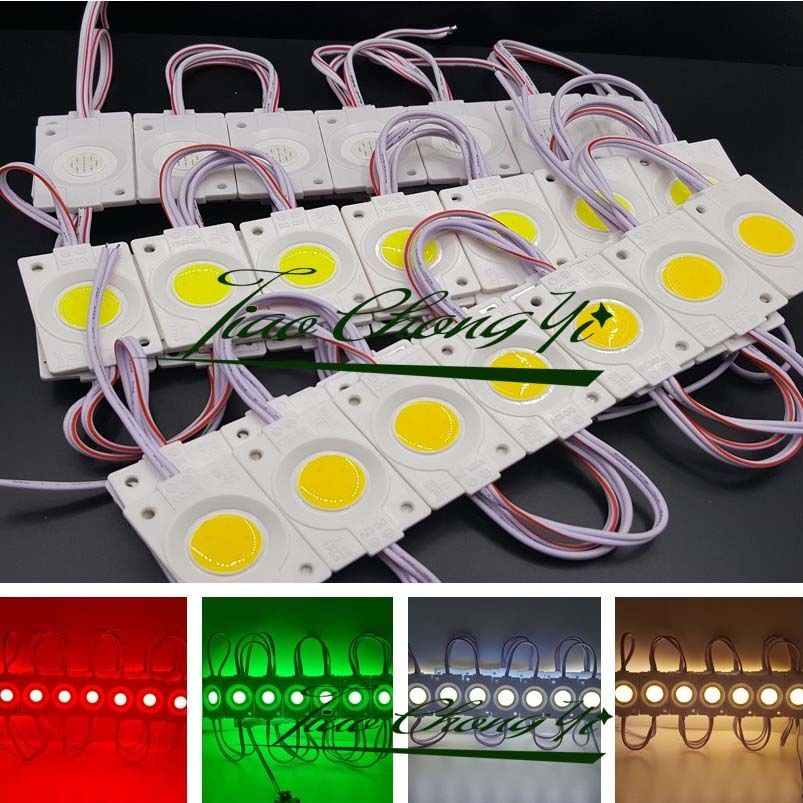 100PCS/lot 2.4W injection COB LED Module light,DC 12V advertising light Red Green blue yellow white  3 years warranty