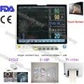 FDATouch Screen,Patient Monitor ECG+NIBP+Spo2+PR+Resp+printer+2 IBP+Etco2,CONTEC