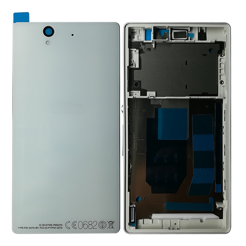 US $12 24 49% OFF|SZHAIYU For Sony Xperia Z L36h C6602 C6603 Full Housing  Front Chassis Frame Side Stripe Port Cover Back Battery Cover Case Tool-in