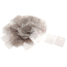 цены на Uxcell 200pcs Hole Dia 3.5mm Mini Mica Insulator Spare Part for Microwave Ovens Sheets for Midea Magnetron Cap Plates в интернет-магазинах