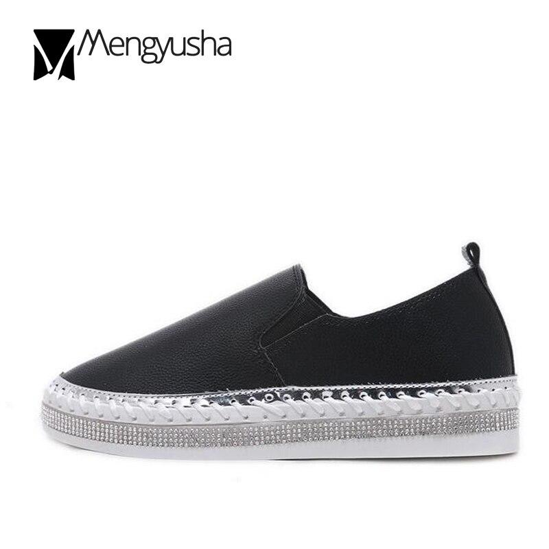 Rond Sur blanc Zapatos Bout Haute Talon Noir Femmes Cristal Qualité Chaussures Petit Glissement Confort Blanc Mocassins Muffin Designer Dames Mujer HqtZRwx4H