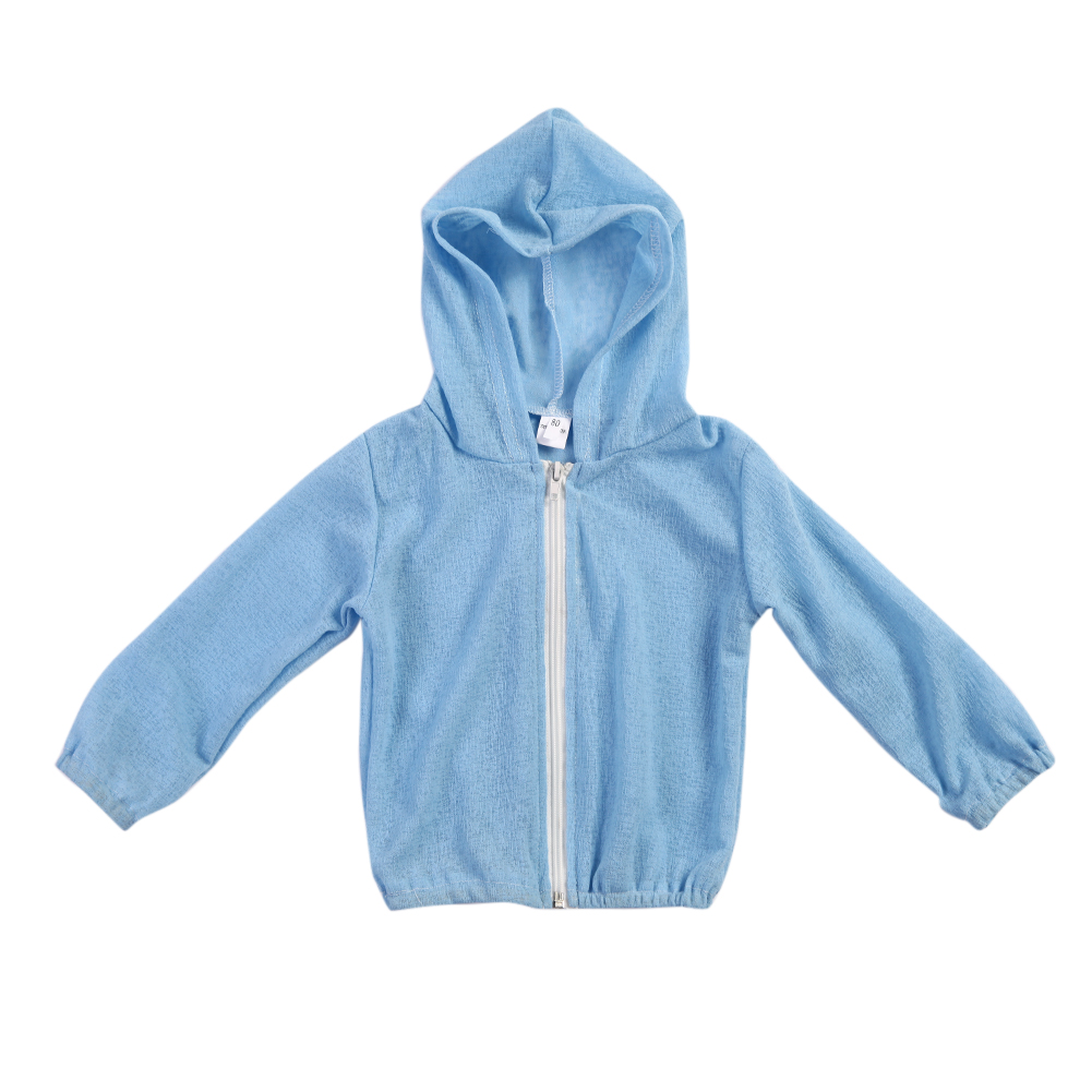 Children Kids Boys Girls Clothing Windproof Solid Color Coat Flax Sunscreen Coat Full Sleeve High Quality Baby Clothes