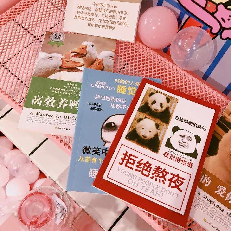 South Korea ins Creative Funny Notebook Student Journal Notepad kawaii Dog Night Register