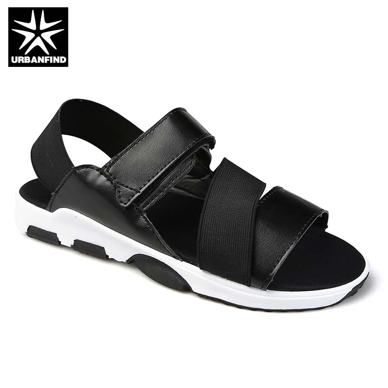 New Arrival PU Leather Men Fashion Sandals Summer Shoes Size 39-44 Breathable Comfortable Man Casual Beach Sandals