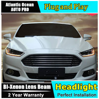 new head lamp car styling For Ford Mondeo Assembly headlights 2013 2016 For Ford Fusion Bi xenon Double lens HID KIT led drl