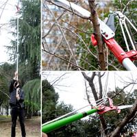 Horticulture High Altitude Scissors Garden Tools Pruning Shears High Sticks Saw (scissors + saw +rope no rod )