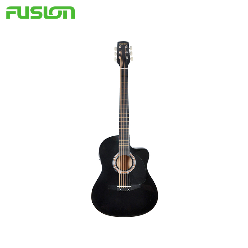 Electric acoustic guitar Fusion JCA 205C MusicalInst 5pcs 6 strings wooden guitar chevalet for acoustic guitar