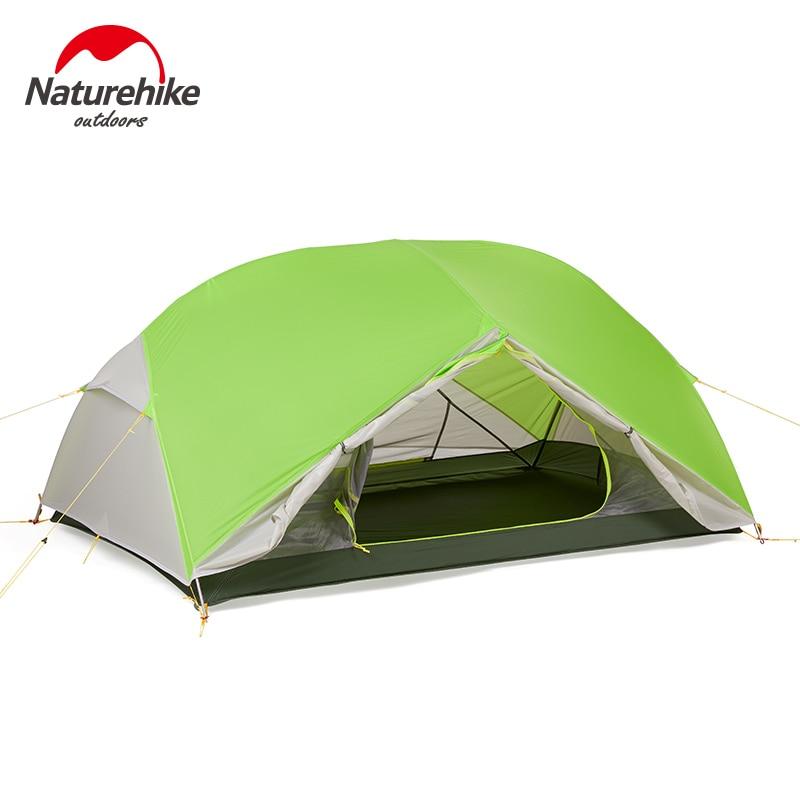 Naturehike Продажа с фабрики Mongar 2 палатка двухслойная 2 человек Водонепроницаемый Сверхлегкий купол палатка DHL Бесплатная доставка - 6