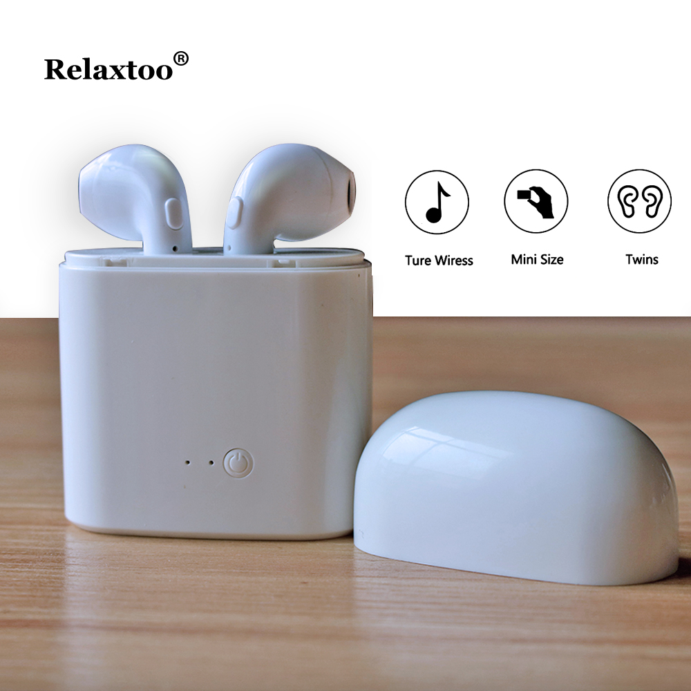 Wireles earphone Bluetooth i7 tws Earphone Mini Earbuds Stereo Headset For iPhone Samsung Xiaomi Huawei Head Phone With Charger