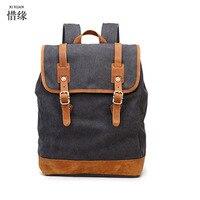 Xi nhân dân tệ thương hiệu của nam giới ba lô ba lô phong cách thời trang vải giản dị back gói túi đi học cho du lịch nam chuyến đi book bag món quà cậu bé