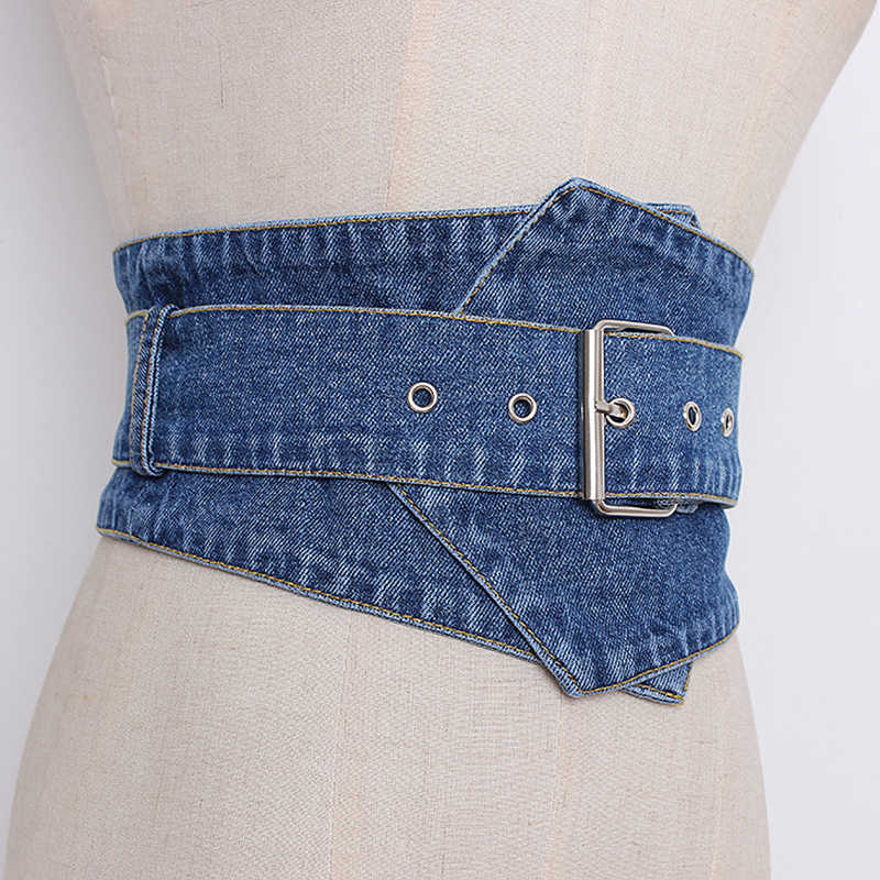 CHICEVER джинсовые широкие ремни женские с высокой талией винтажные женские пояса для платьев аксессуары Осень Корейская Мода Tide 2019