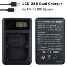 NP-FZ100 Bateria LCD Display USB Dual Channel NP FZ100 Battery Charger for Sony a9 a7RIII a7III alpha 9R, A9R, Alpha 9S Camera цена и фото