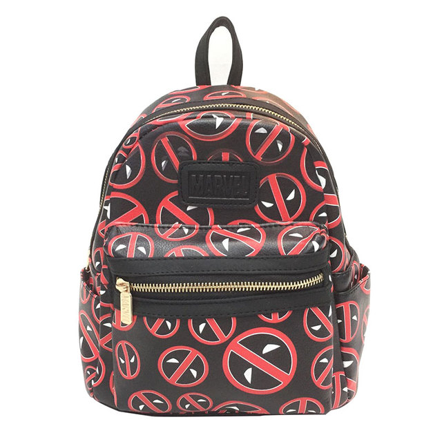 2b6a03f30aa5 Anime Deadpool Leather Backpack Cartoon Hero Batman Wonder Woman Marvel DC  Star Wars Rick and Morty Children School Bags mochila