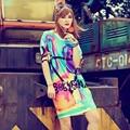 9 Цвет Женщины Футболка С Коротким Рукавом Женская Одежда Ropa Tee рубашка Femme Poleras Mujer Camisetas Дамы Длинный Танец Панк Т рубашка