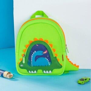 Image 5 - NOHOO Toddler Kids Dinosaur Backpack for Boys Children Dinosaur Bookbag Toys Bag Waterproof 3D Cartoon Girls Preschool Backpack