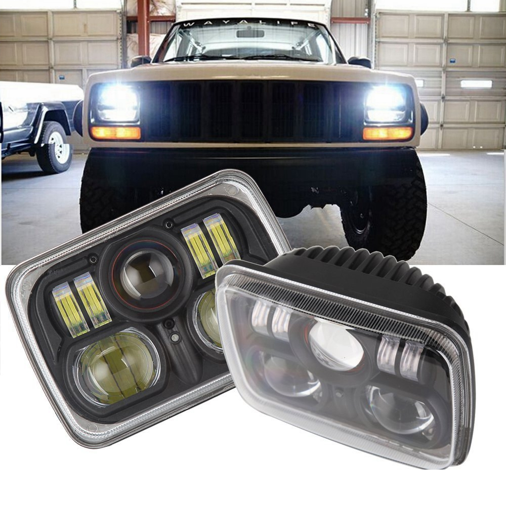 2PCS 7 INCH 54W LED Headlight H4 High Low Beam Driving Lights For Jeep wrangler JK Cherokee XJ Truck Offroad windshield pillar mount grab handles for jeep wrangler jk and jku unlimited solid mount grab textured steel bar front fits jeep