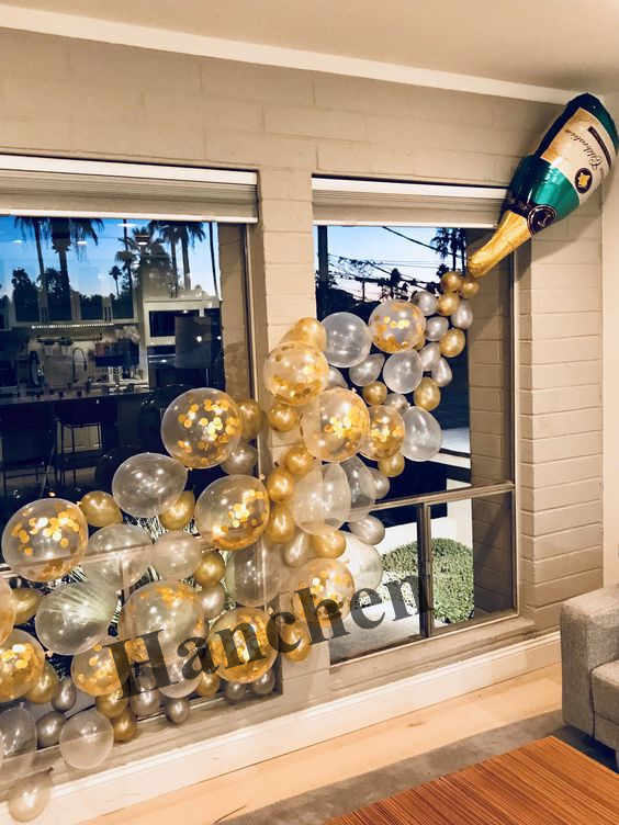 1set large size Champagne Cup Bottle Foil Balloons gold confetti latex balloons Wedding Birthday Party Decorations Supplies