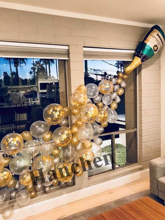 1 conjunto de tamanho grande copo champanhe garrafa de amor balões da folha ouro confetes látex balões decoração do casamento dia dos namorados presente globos