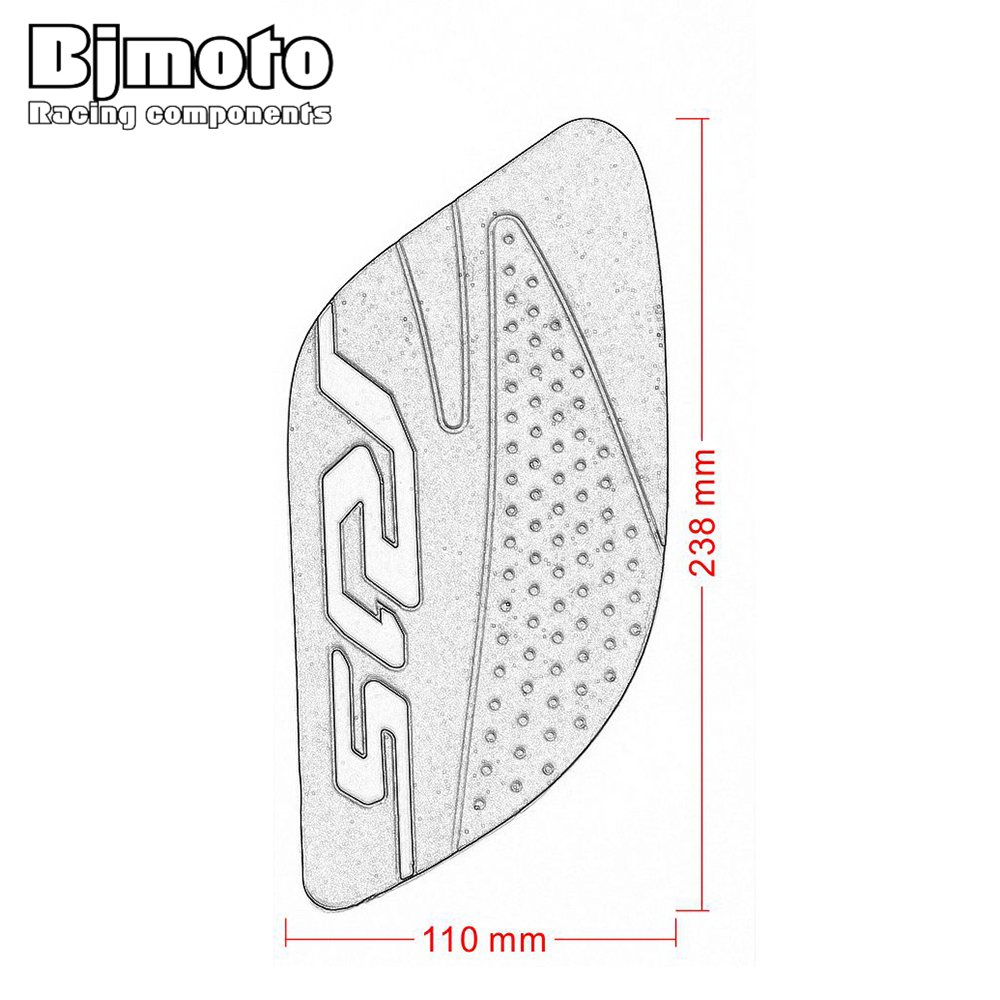 Motorcycle Accessories & Parts Bjmoto Motorcycle Anti Slip Sticker Motorbike Tank Traction Pad Side Knee Grip Protective For Yamaha R15 2017-2018