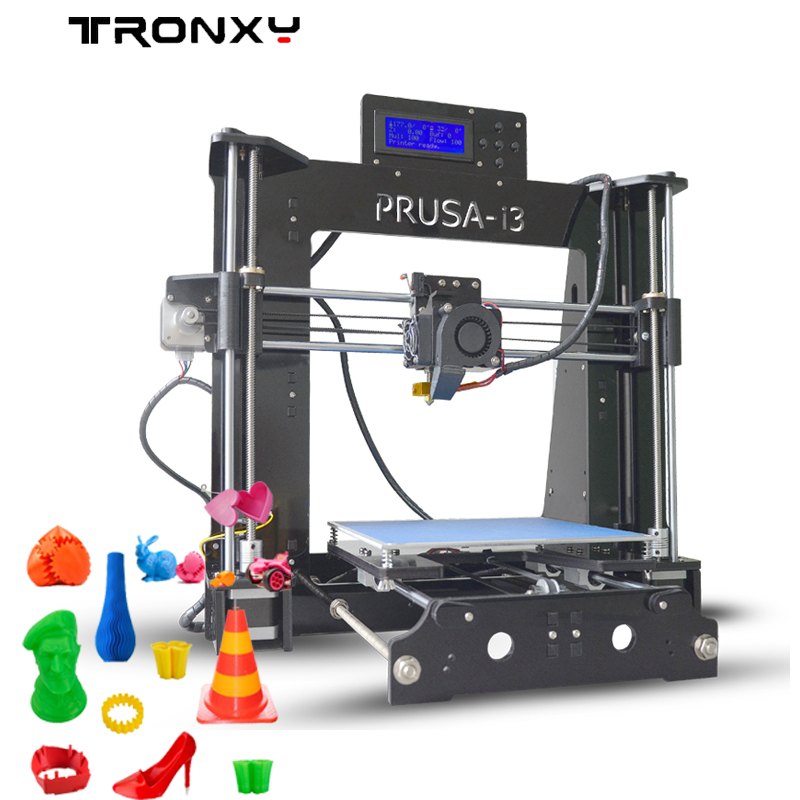 Reprap Prusa I3 DIY 3D Printer Kit High-precision Three-dimensional 3D Printing LCD Screen free USB line 8GB SD Card free shiping ciclop diy 3d three dimensional scanner adapter plate precision machine parts for 3d printer parts