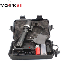 Wholesale prices Laser Pointer Cree Q5 Powerful Led Flashlight 2000LM Waterproof Police Lantern Lamp Red Laserpointer Outdoor Lighting by 18650
