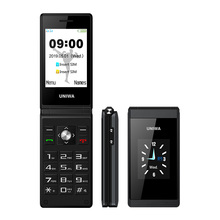 UNIWA X28 2 グラム GSM クラムシェルフリップ携帯電話シニアビッグプッシュ携帯電話デュアル Sim FM ラジオロシアヘブライ語キーボードブランド