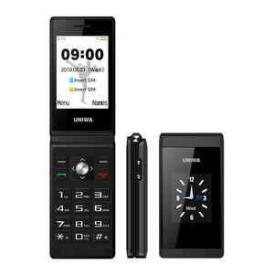 UNIWA X28 2G GSM Clamshell Flip Cell Phone Senior Big Push Button Mobile Phones Dual Sim FM Radio Russian Hebrew Keyboard Brand(China)