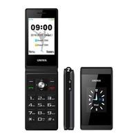 UNIWA X28 2G GSM Clamshell Flip Cell Phone Senior Big Push Button Mobile Phones Dual Sim FM Radio Russian Hebrew Keyboard Brand