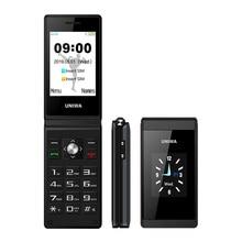 Uniwa X28 2G Gsm Clamshell Flip Mobiele Telefoon Senior Grote Drukknop Mobiele Telefoons Dual Sim Fm Radio Russische hebreeuws Toetsenbord Merk