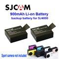 Envío gratis! 2 unids Original 3.7 V Li ion 900 mAh de copia de seguridad de la batería recargable para SJ4000 SJ5000 cámara del deporte de DV