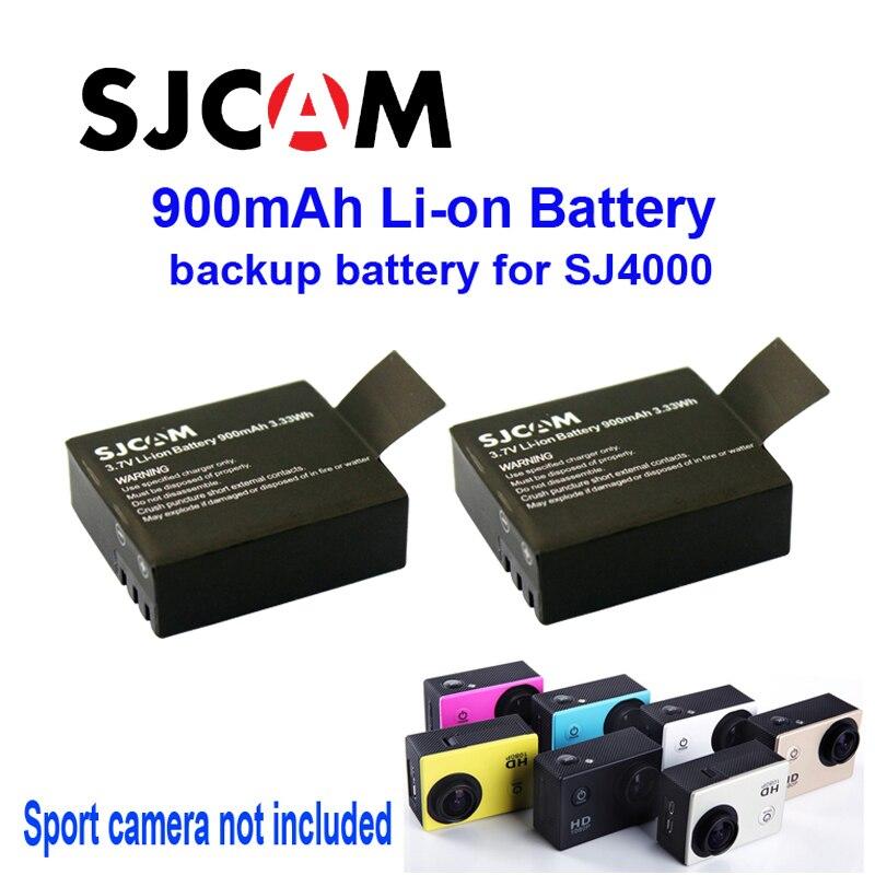 Bateria para Sj4000 Frete Grátis! 2 PCS Original 3.7 V LI - ION 900 MAH Backup Recarregável Sj5000 Esporte Câmera DV