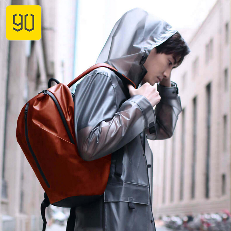 Xiaomi Eco chain 90FUN All Weather Functional Backpack Fashion Waterproof bag Travel College School Bussiness Black