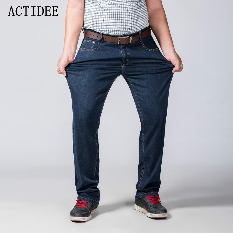 2017 New Fashion  Mens Jeans Slim Fitness Cotton Elastic Jeans Brand Clothing Denim Trousers Plus Size 52 50 48  46 44 42 5z new fashion spring autumn mens jeans slim fitness cotton elastic pants male clothing denim trousers