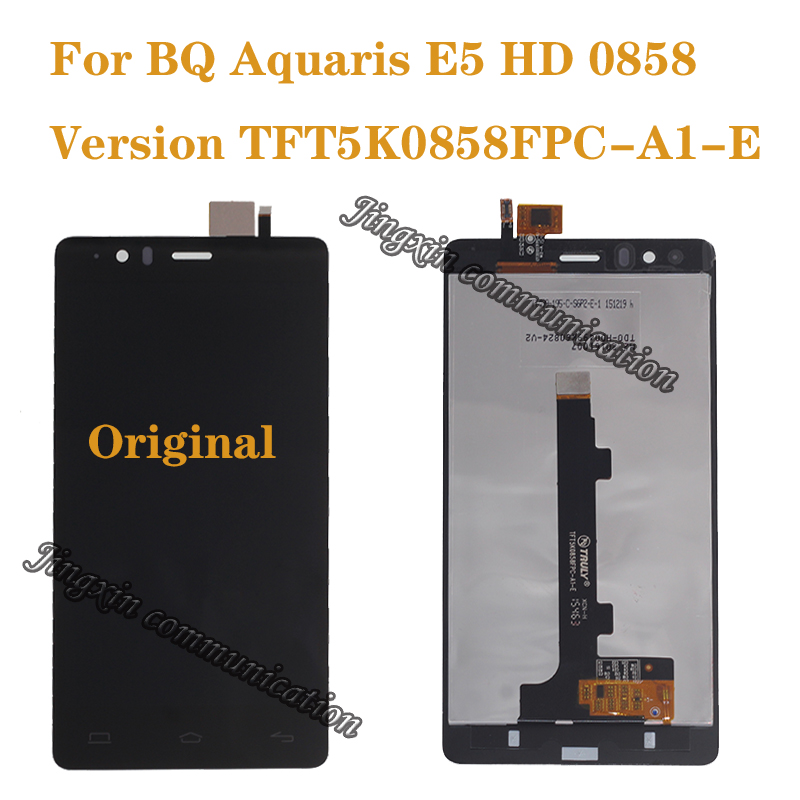 100% brand new original for BQ Aquaris E5 0858 LCD display + touch screen digital converter replacement E5 HD repair parts-in Mobile Phone LCD Screens from Cellphones & Telecommunications
