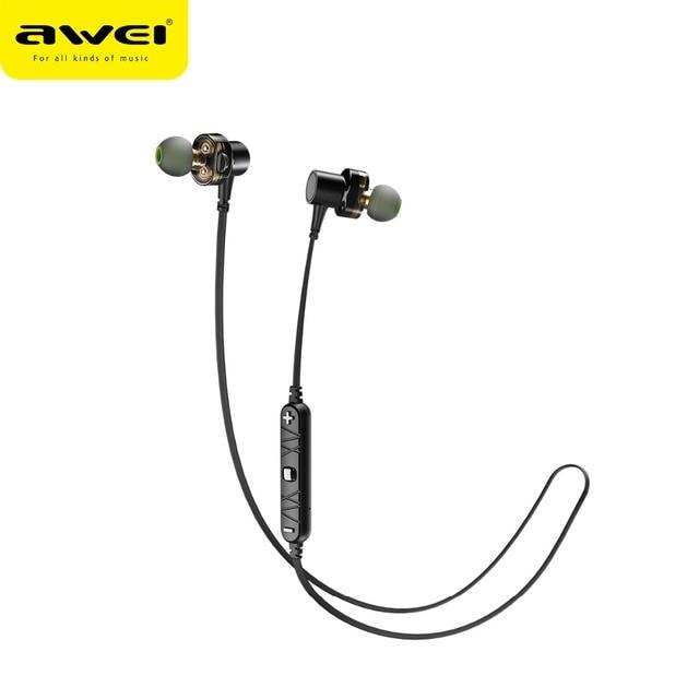 987bed7481b AWEI X660BL Magnetic Bluetooth Earphones Sport Wireless Headphone  Waterproof Earbuds Stereo Headset with microphone Earphones