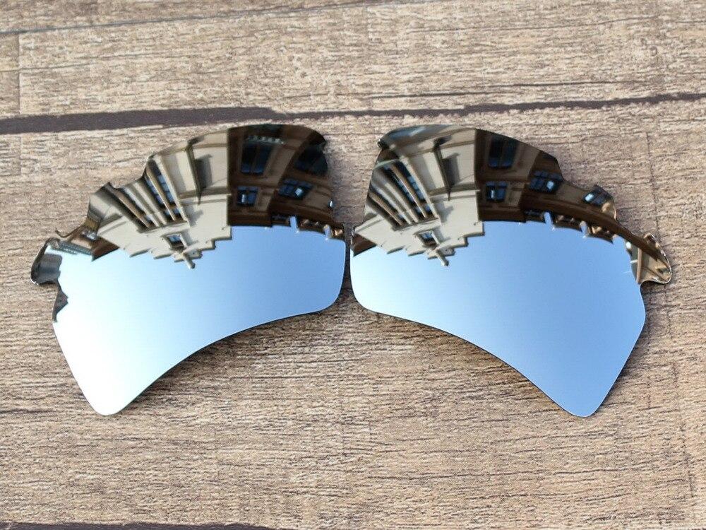 REPUESTO polarizadas del espejo de plata del cromo Objetivos para Flak 2.0  XL vented Gafas de sol Marcos protección 100% UVA y UVB a5423021d3