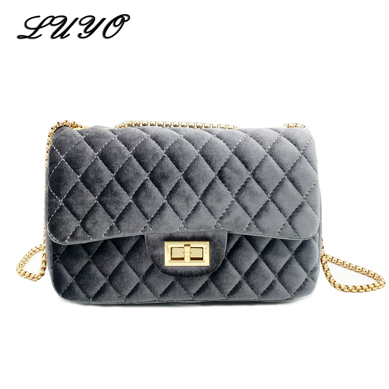 LUYO Brand Chain Vintage Mini Small Girls Shoulder Bag Cross Body Fashion Women Messenger Bags Flap Channels Handbags Sac A Main