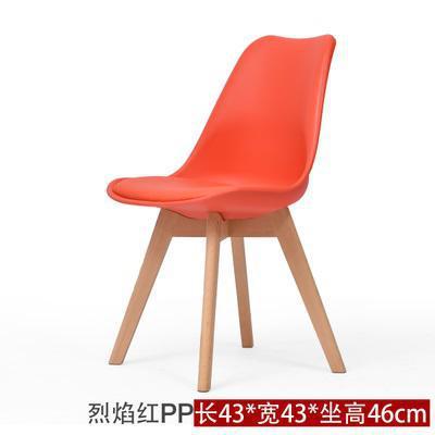 Простой современный домашний стул для столовой задний офисный стул креативный твердый деревянный Северный стул - Цвет: 14