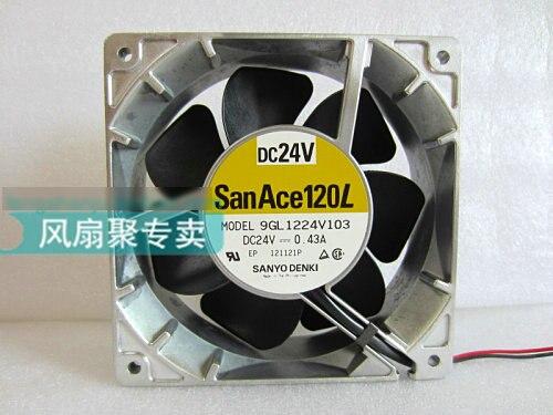 Original SANYO 9GL1224V103 12CM 12038 24V 0.43A aluminum frame drive cooling fan delta 12038 12v cooling fan afb1212ehe afb1212he afb1212hhe afb1212le afb1212she afb1212vhe afb1212me