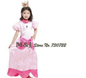 Image 2 - משלוח חינם!! חג המולד ליל כל הקדושים בנות אלגנטי אפרסק נסיכת שמלת קוספליי שלב פסטיבל תחפושות