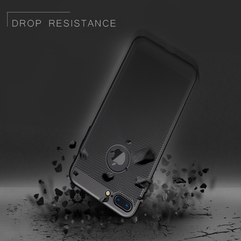 GerTong Heat Dissipation Phone Case For iPhone X 8 7 6 6s Plus 5 5s SE