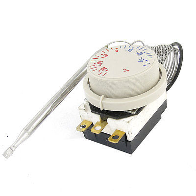 Freezer -30 to 30 Centigrade Temperature Beige Probe Capillary Thermostat taie thermostat fy800 temperature control table fy800 201000