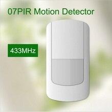 433 Mhz sem fio pir detector de movimento, sensor de baixa tensão alerta sms para o sistema de alarme gsm wi-fi, com configuração-no interruptor de tamper