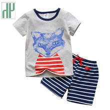 Boys clothing Summer Style Children clothing sets Tops + Shorts toddler Boys girls outfits Sports Suit kids fashion Clothes girls summer clothes kids clothing ensemble fille 2017 brand baby girls sets ruffle tank tops shorts children outfits 10 colors