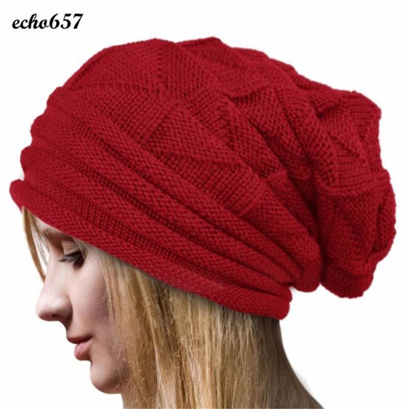 New Arrival Echo657 Fashion Women Winter Crochet Hat Wool Knit Beanie Warm Caps Nov 11 PY wuhaobo the new arrival of the cashmere knitting wool ladies hat winter warm fashion cap silver flower diamond women caps