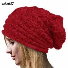 Новое Поступление Echo657 Женская Мода Зима Вязание Hat Шерсть Вязать Шапочки Теплые Шапки 11 Ноября